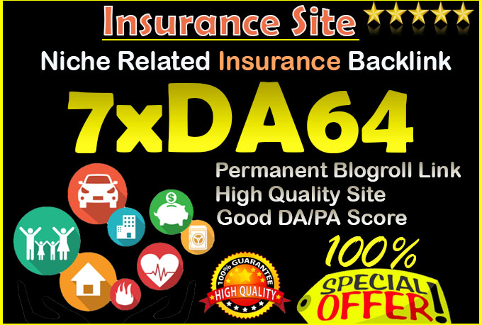 give backlink da64x7 site Insurance blogroll