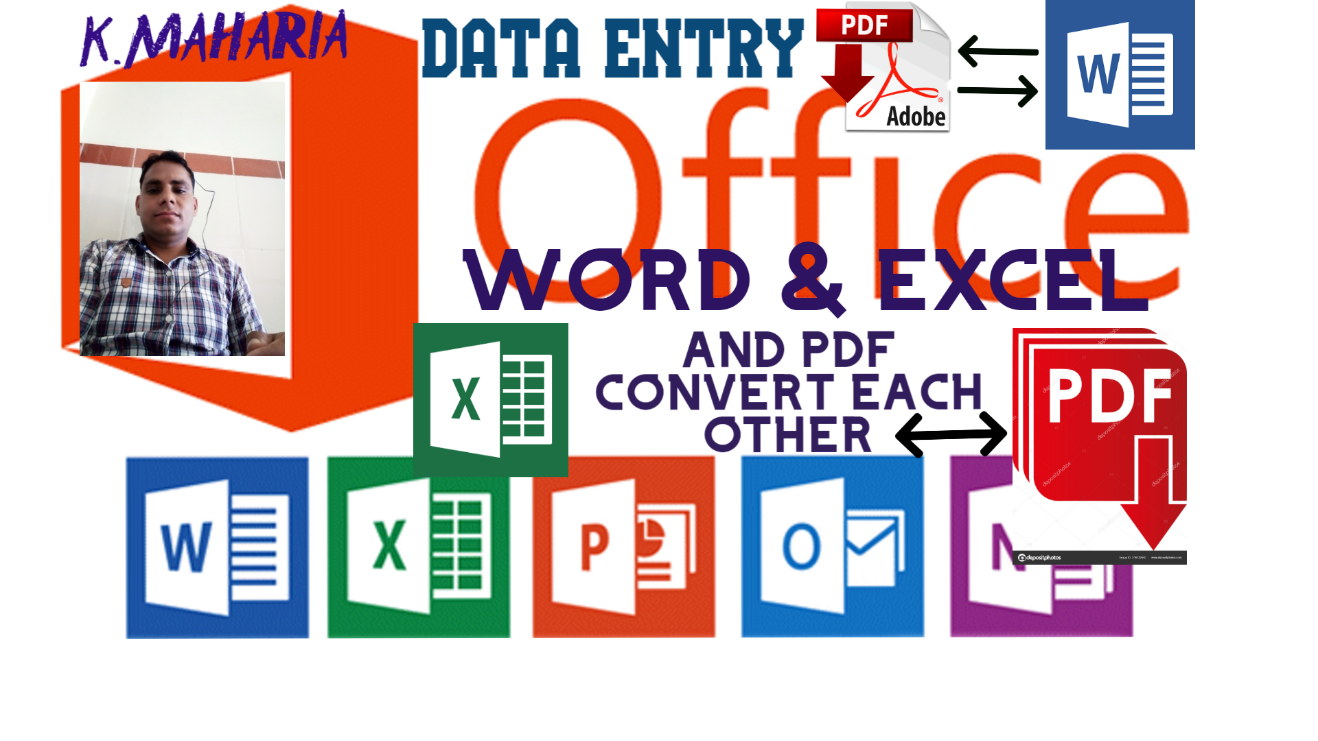 DATA ENTRY OPERATOR, DATA SCRAPING EMAIL, WEB ETC. TYPING IN WORD, EXCEL AND CONVERT TO PDF