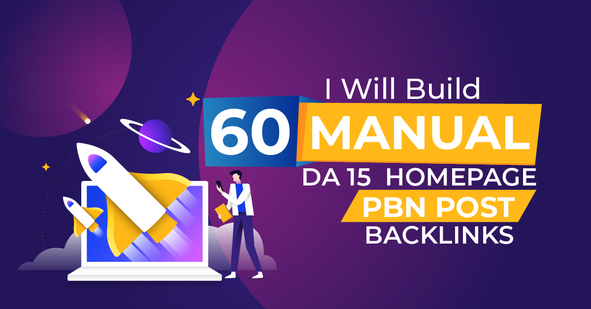 60 PBN Homepage Dofollow High Quality Backlinks