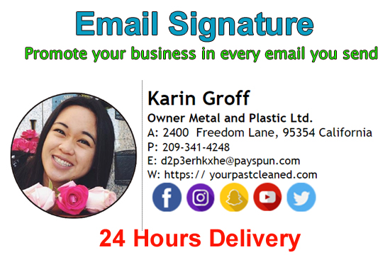Create Professional Clickable Email Signature