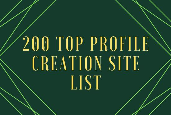 200 + Top Profile Creation And Account Setup, Manually