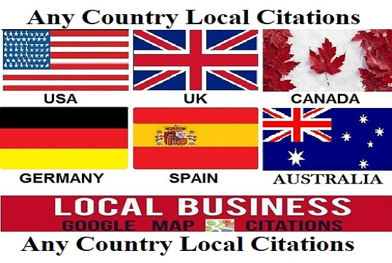 Create 15 Any Country Live Local Citations For Local Business Listing