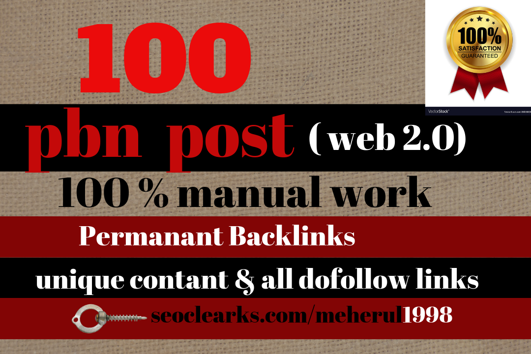 100 Web 2 Pbn Backlinks