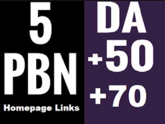 5 PBN DR 41+ Homepage Backlinks