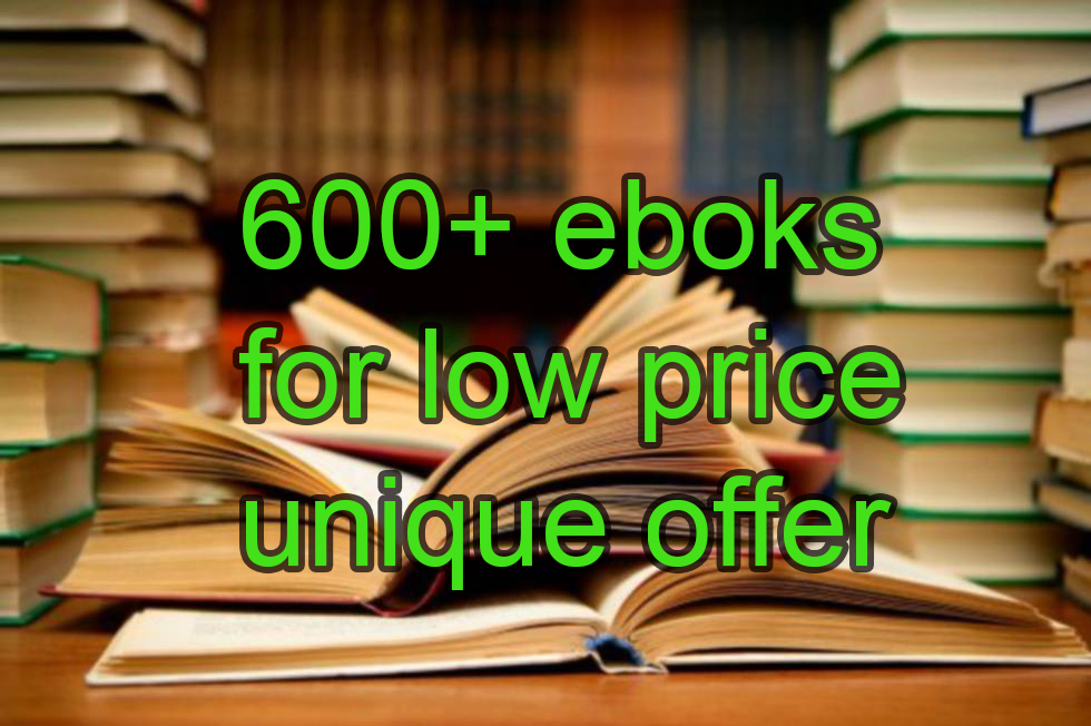 Pack of more than 600 digital books on financial education