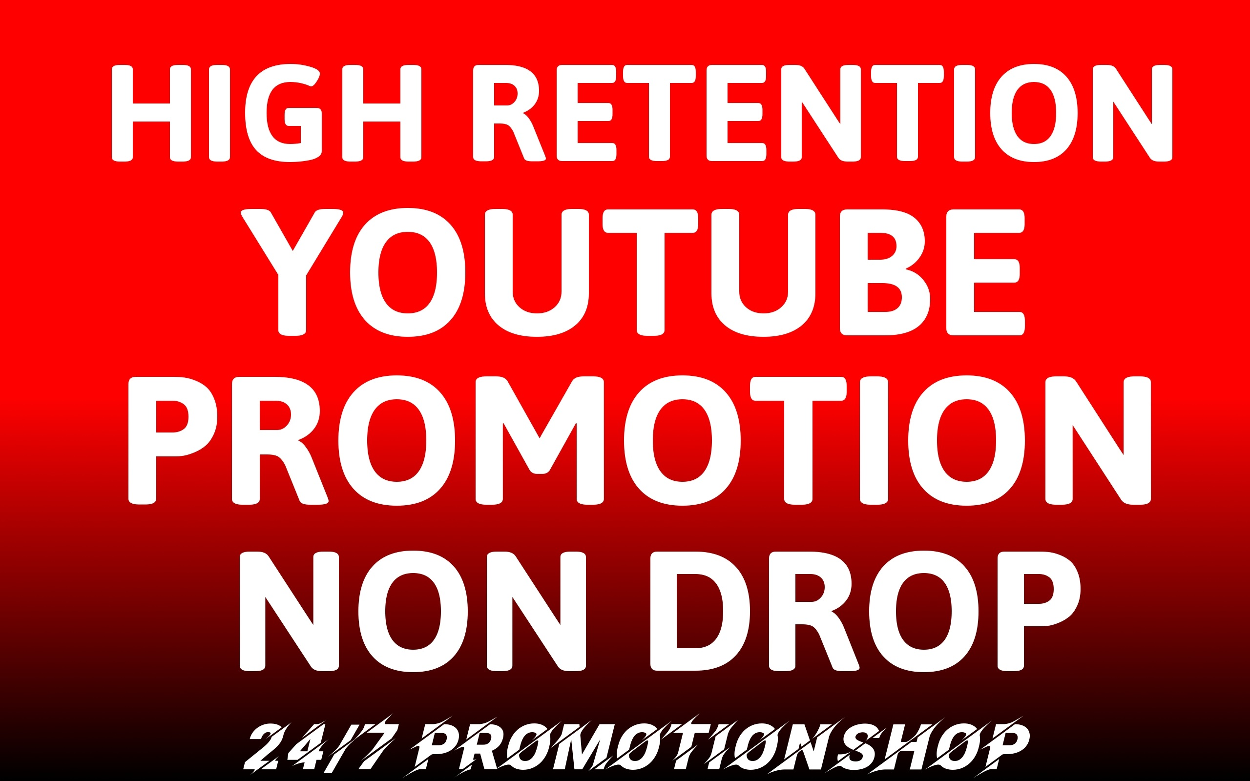 YouTube VIDEO Promotion NON DROP With Lifetime Guarantee