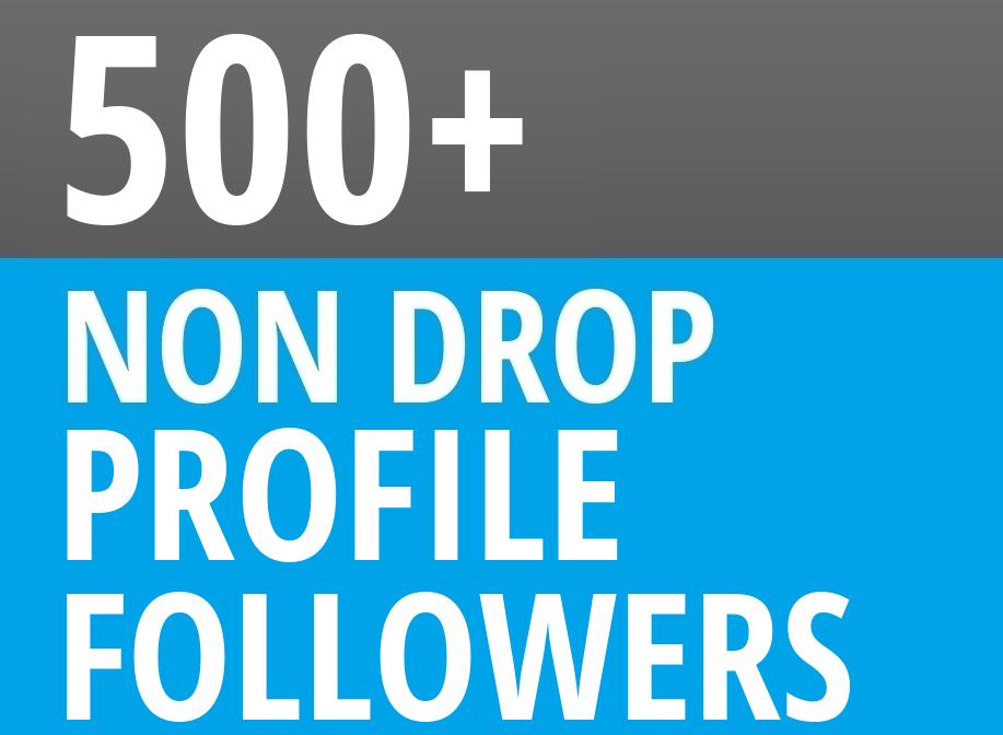 Add HQ 500+ Profile Followers NON DROP