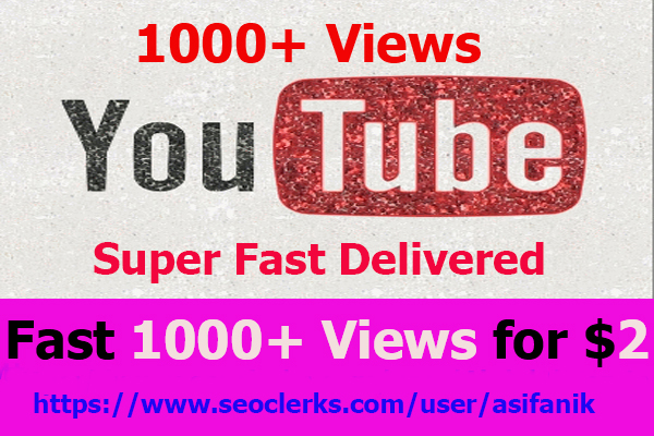 Start Instant Video NON-DROP & HIGH QUALITY YOUTUBE PROMOTION in 6-8 hours