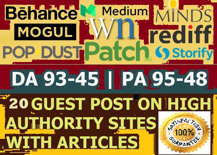 Publish 10 X High Authority Guest Post DA 93-45 Not PBN