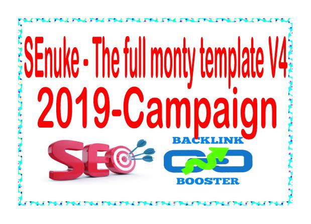 Get SEnuke - The full monty template V4 2019 - Campaign