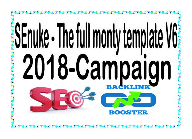 Get SEnuke Campaign - The full monty template V6 2019 - Campaign