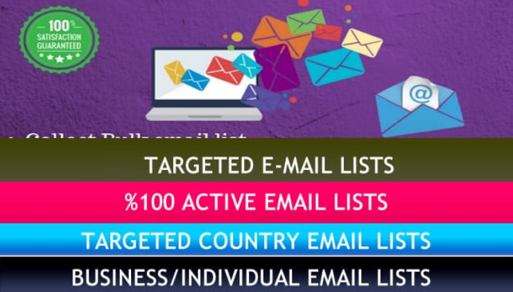 Find targeted 1000 email lists for your business niche,  B2B