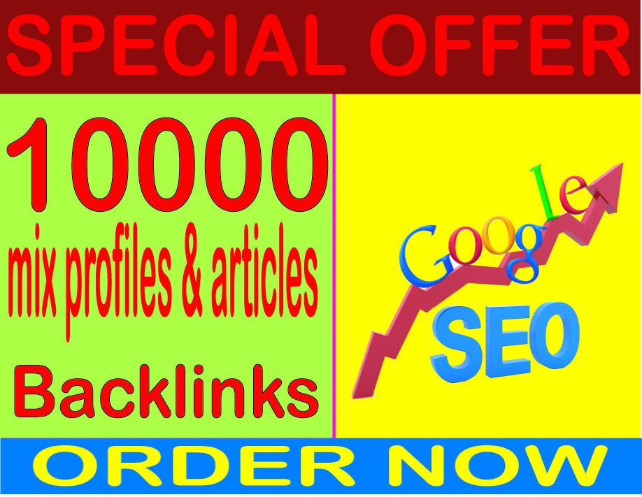 SEO Cmpaigns 2019- Rank On Google with 10000 mix profiles & articles contextual Backlinks