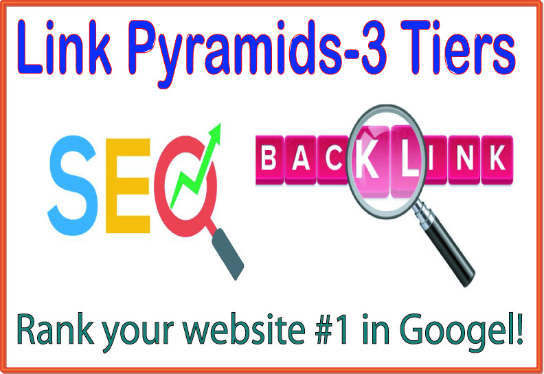 Link Pyramids 3 Tiers of backlinks-Article directories -Blog/image/other comments-EDU