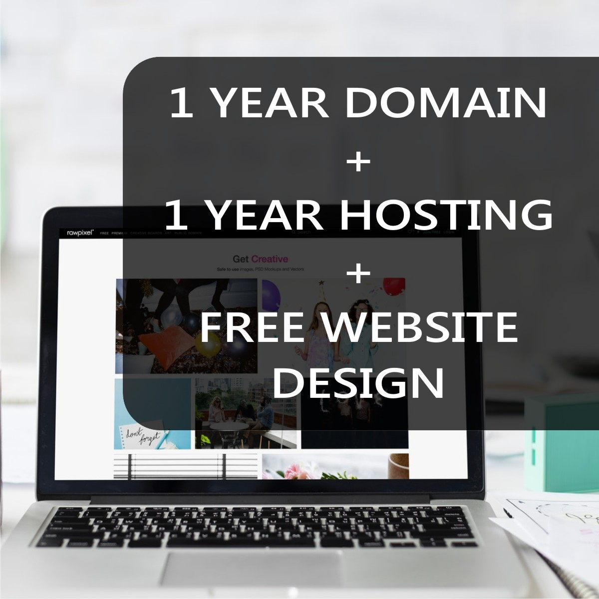 Free Website Design Plus 1 Year Domain And Hosting
