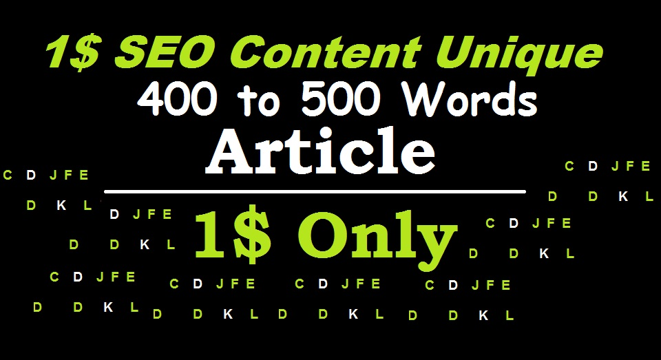 400 to 500 words SEO content Unique Niche article writing for blog posts