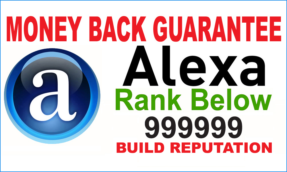 Boost your Alexa ranking Below 999,999k