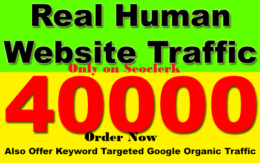 send 40000 Keyword Target Real Human Traffic for your website