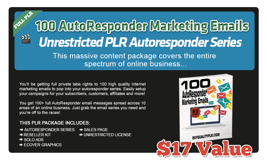 100 AutoResponder Marketing emails. Books