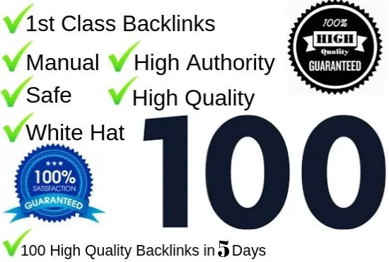 High Domain and high authority 100 Powerful Backlinks DA 80-100
