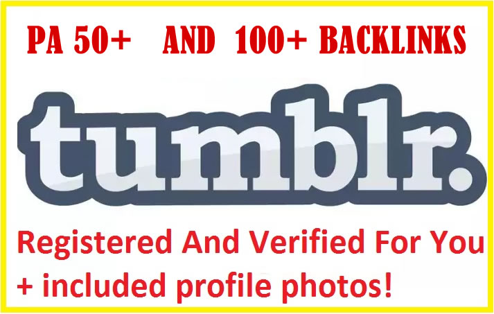 Get 5 Expired Tumblr PA50 With 100+ Backlinks Registered
