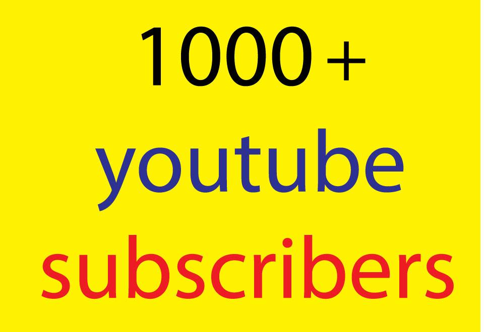 1000 YouTube promotion real users active and permanent