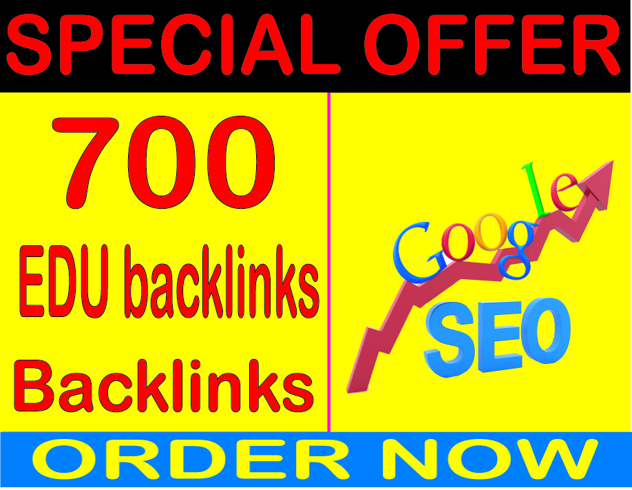 Top SEO Service- 700 High Quality. Edu Backlink Dofollow and Nofollow For Search Dominate