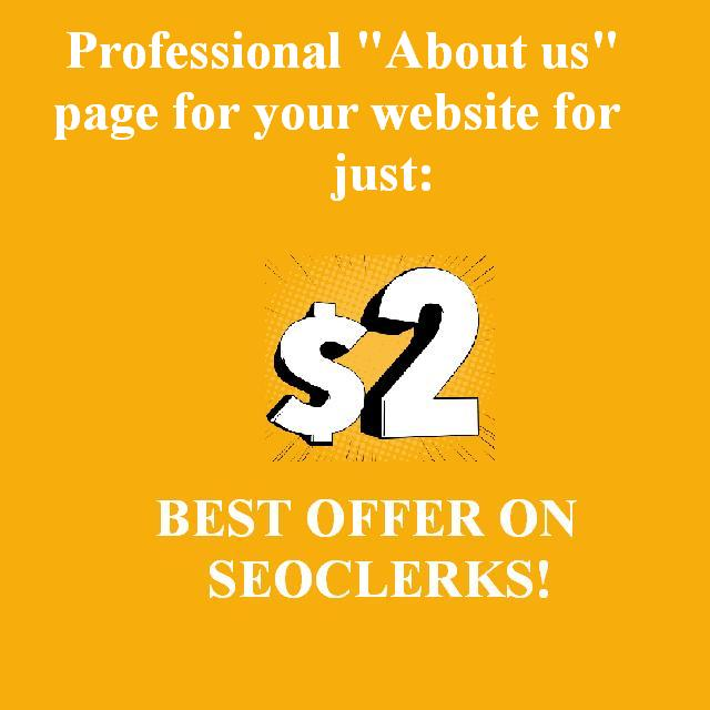 "Write for you professional ""About Us"" section for your website"