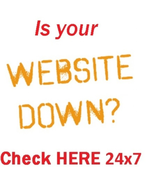monitor your website if is having problems
