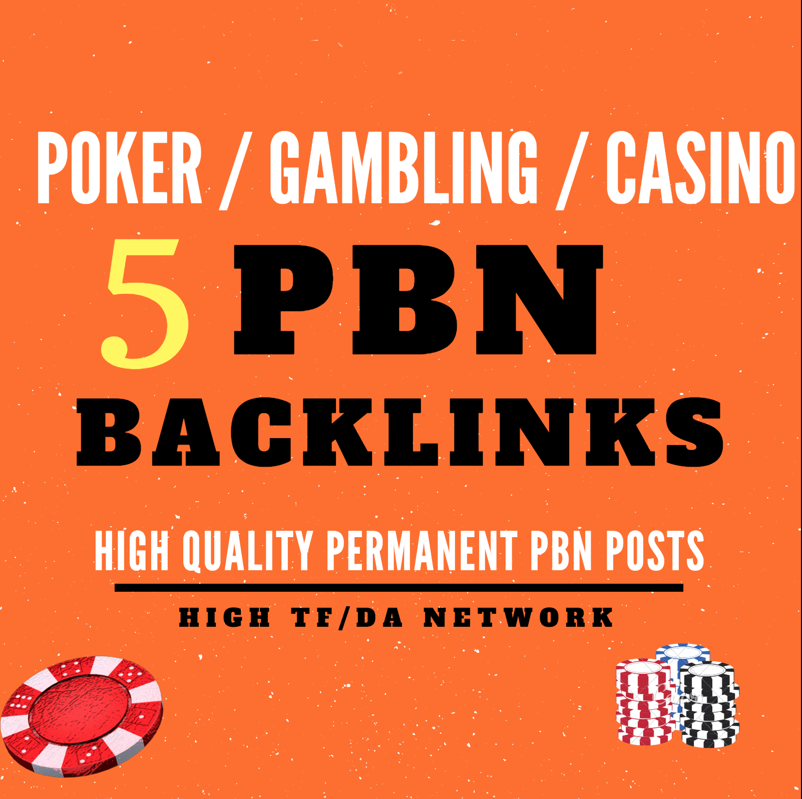 5 Casino / Poker PBN Backlinks on HIgh Authority