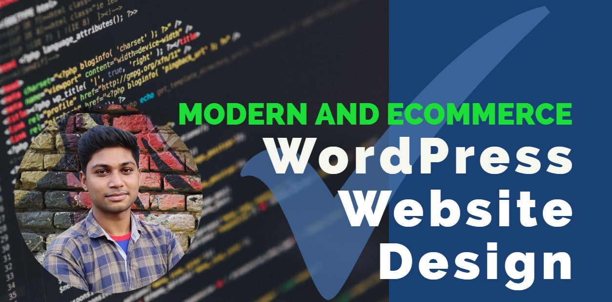 Create WordPress Website Design or build Ecommerce Website