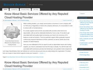 PR3 Hosting Server Site