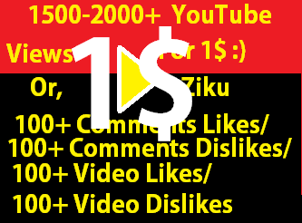Instant Start 1000-1200+ Views for your YouTube Video with 5 likes