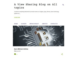 A view sharing blog on all topics