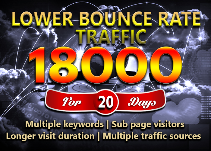 LOW BOUNCE Google ORGANIC website traffic for 20 days