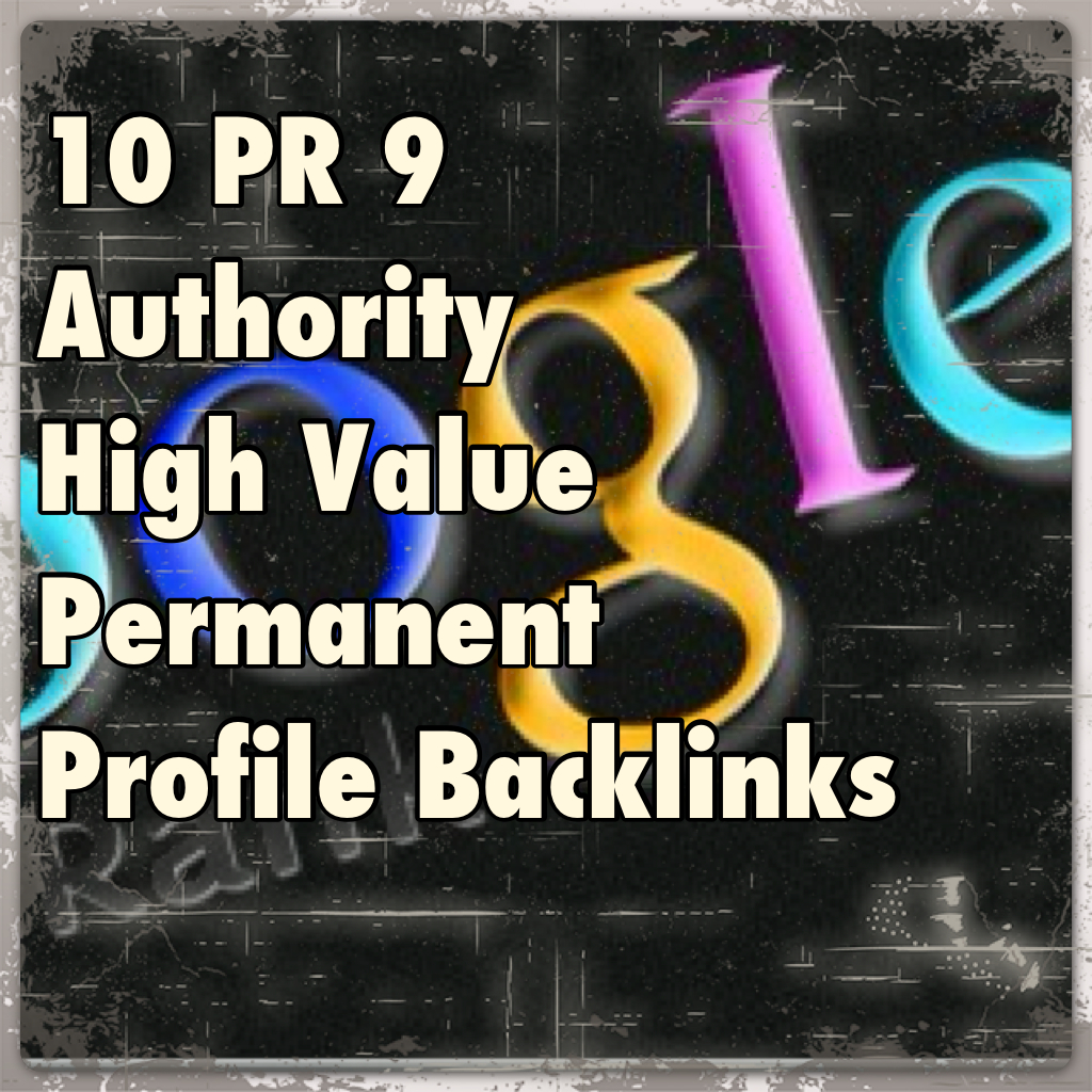 manually create 22 XPR9 backlinks,  extreme authority,  contextual and very powerful PR 9 links from High Authority Site