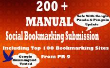 submit your url to 200 Social Bookmarking HPR Seo Backlinks