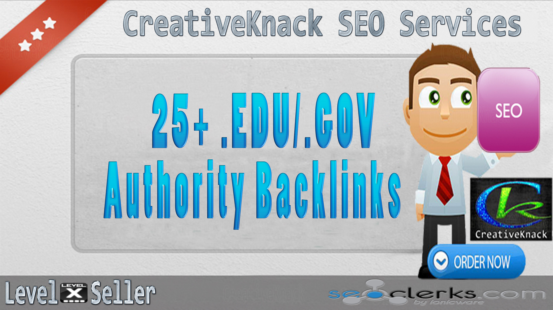 25+ .EDU/.GOV High Authority Backlinks only