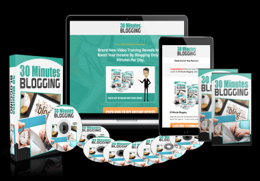 30 Minutes Blogging Video Training PLR White Label Rights