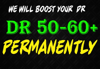 We Will Increase Domain Rating Dr 60 Plus In 30 Days