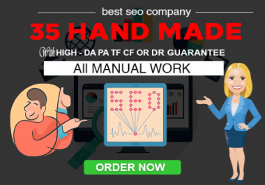 Get 35 HAND MADE Contextual Links 100 DA 100PA links with FULL REPORT 100% RANKING BOOSTER