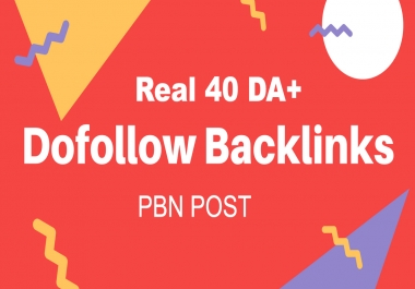 Build 3 Real 40+ DA PBN post Home page link