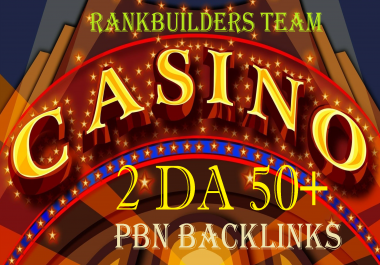Rank with 2 DA50+ Niche PBN Casino, Gambling, Poker, Judi Related High DA Backlinks