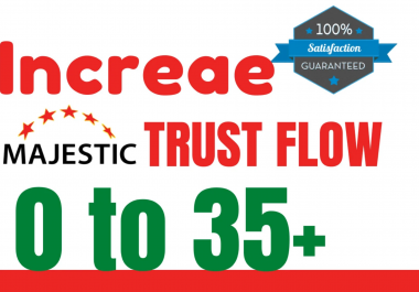 Boost your Website Majestic TF FROM TF0 TO TF25+ WITHIN 20 DAYS - GUARANTEED