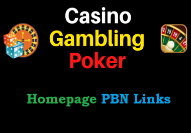 Get 10 Niche Pbns Casino, Gambling, Poker, Judi Related High DA websites