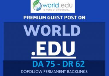 "Write and Publish A Guest Post "" world.edu"" DA 75 Backlinks"