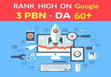 I provide You Spam Free 3 PBN Posts High Metrics Domains DA 60+