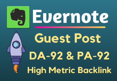 Write and Publish Guest Post On Evernote.com DA93 with Backlinks