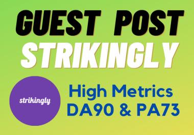 "Write and Publish A Guest Post ""Strikingly"" DA90 Dof0llow Backlink"