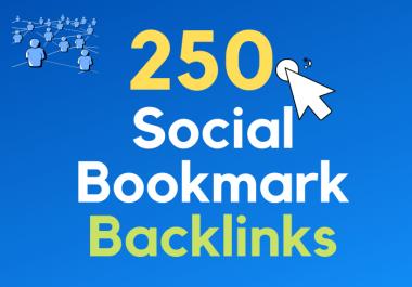 I Will Build 250 Social Bookmarks Backlinks